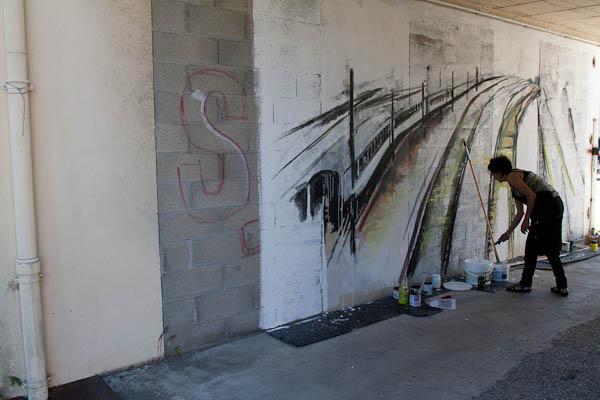 peinture murale, entrée scof