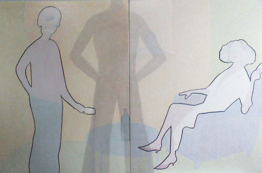 discussion, 240 x 160cm