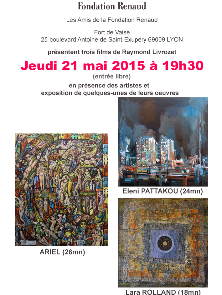 Invitation projection fondation Renaud 2015