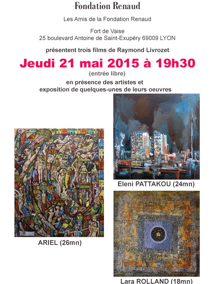 Invitation projection fondation Renaud 2015